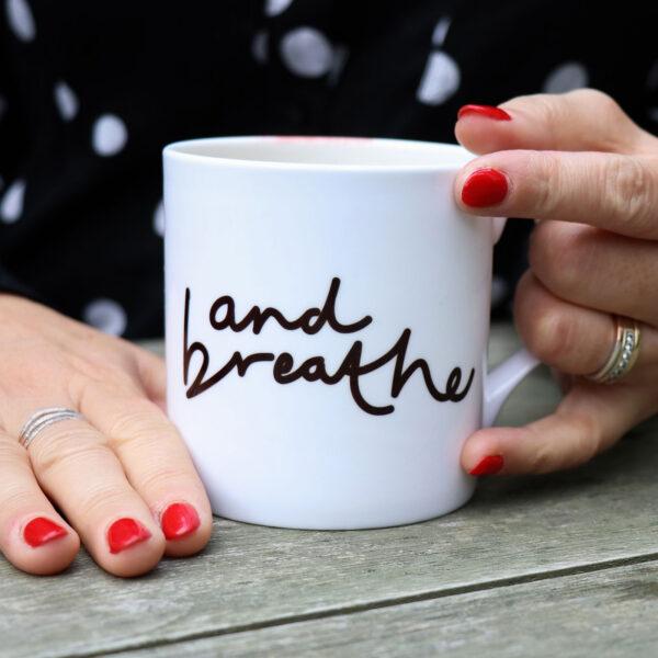 And Breathe Personalised Mug Gift