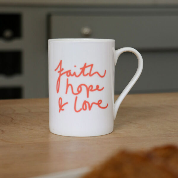 Faith Hope and Love Personalised Mug