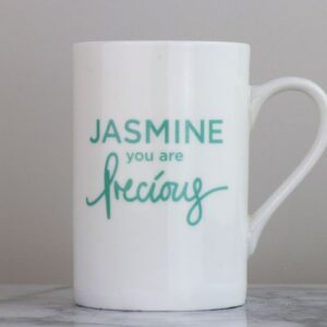 You Are Precious Personalised Bone China Mug
