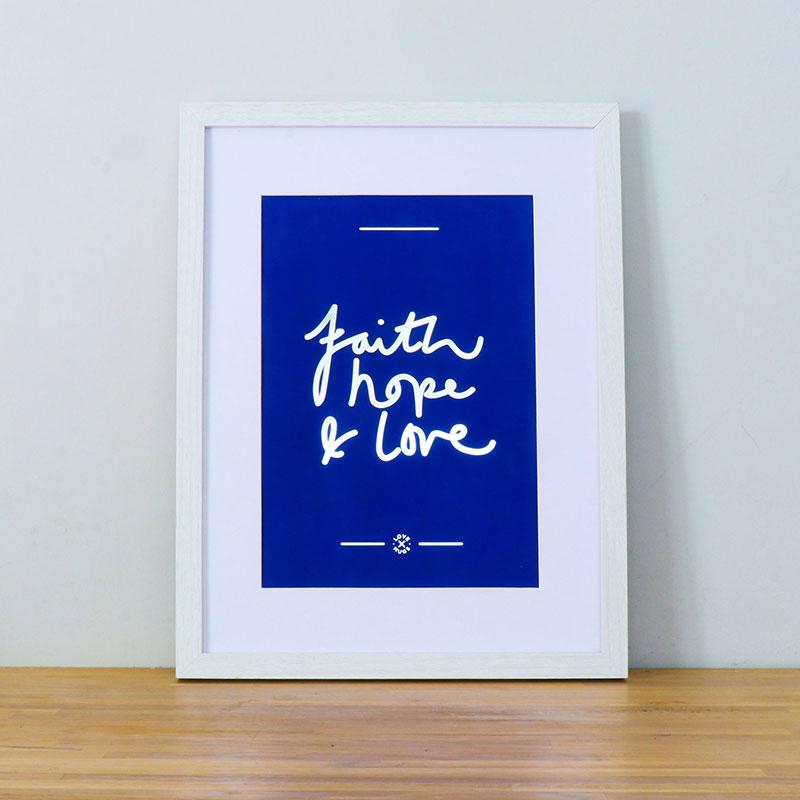 A4 Poster Faith Hope Love