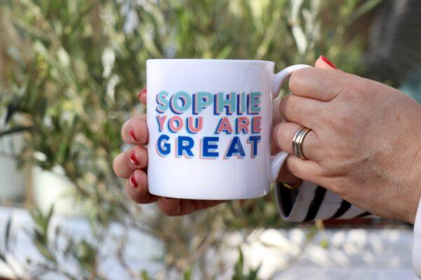 You are great personalised china mug