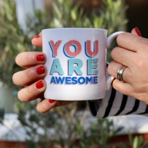 You are awesome personalised china mug