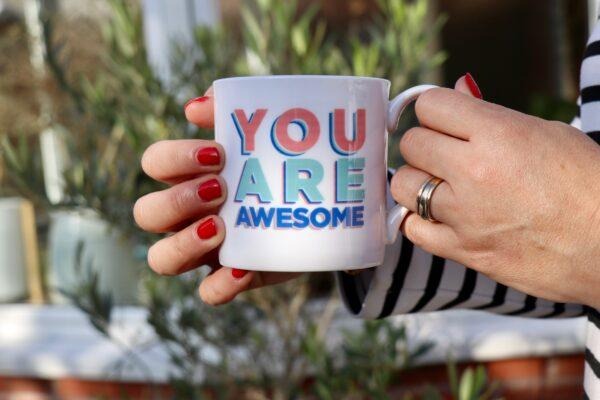 You are awesome personalised china mug
