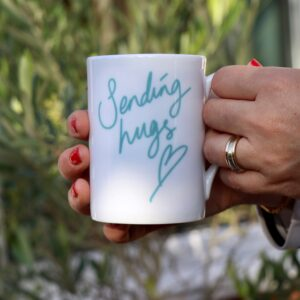 Sending Hugs Personalised Mug