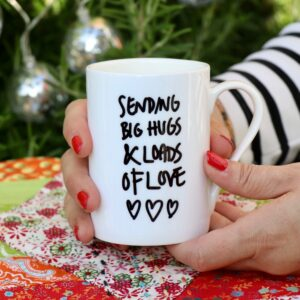 Sending Big Hugs personalised China Mug