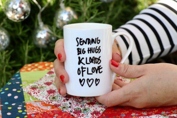 Sending Big Hugs personalised China Mug