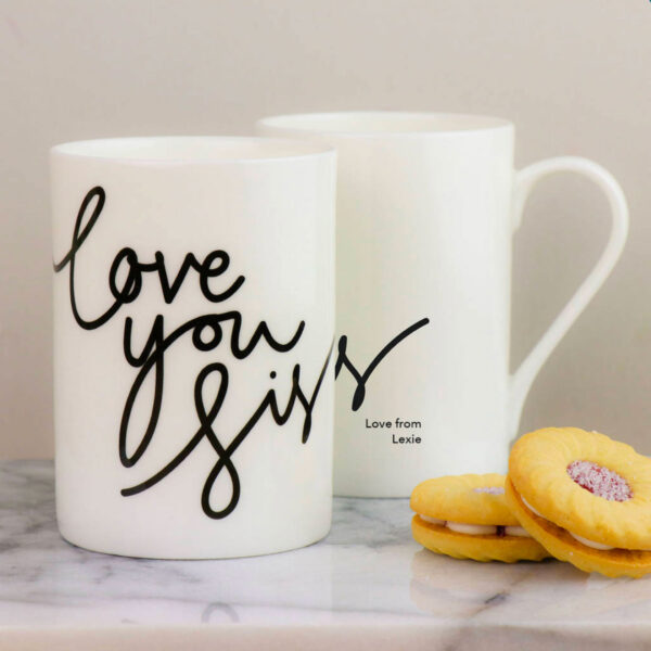 Personalised Love You Sis China Mug