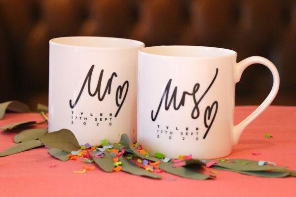 Personalised Mr & Mrs Wedding Anniversary China Mug