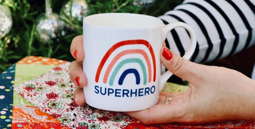 Personalised Superhero China Mug