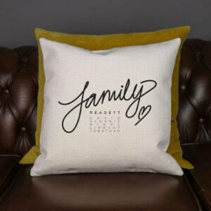 Personalised Family Cushion