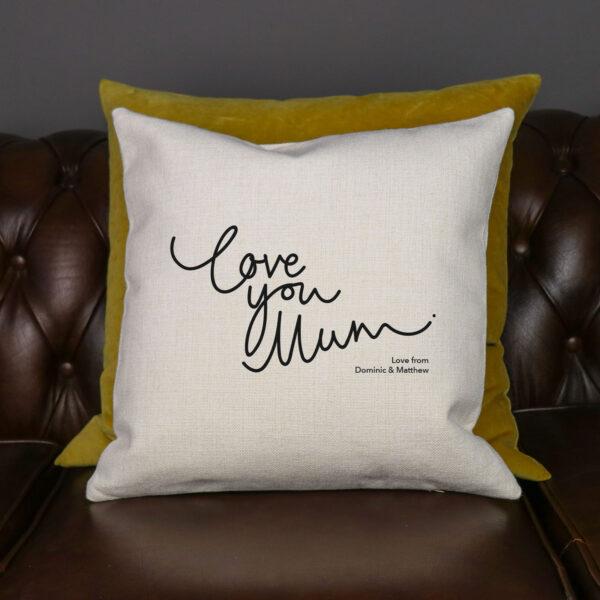 Personalised Love You Mum Cushion