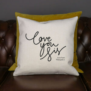 Personalised Love You Sis Cushion