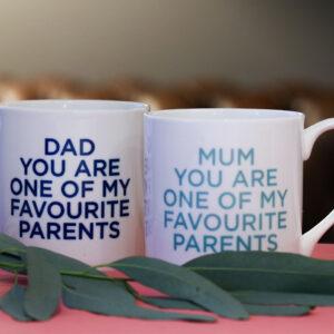 Love Mugs You're My Favourite Parents China Mug